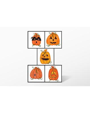 GO! Jack-O-Lanterns Embroidery by V-Stitch Designs