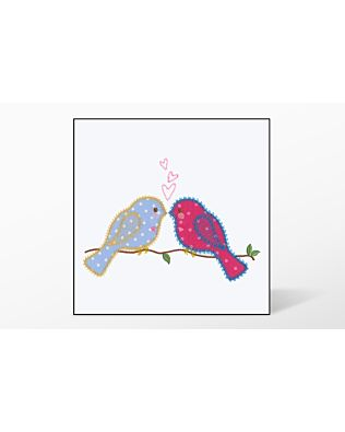GO! Lovebirds Single #1 Embroidery Designs by V-Stitch Designs