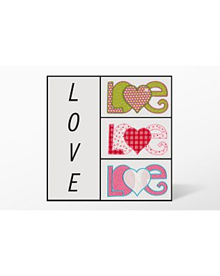 GO! Love with Heart Set Embroidery Designs by V-Stitch Designs (VQ-LWHS)