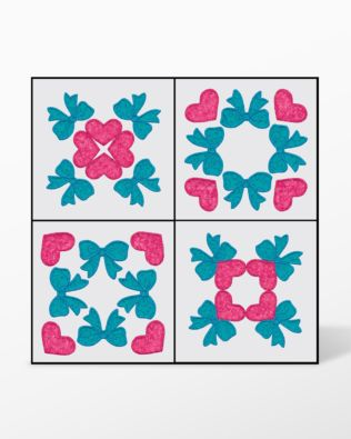 GO! Quilt Blocks #2 Embroidery by V-Stitch Designs (VQ-QBES2)