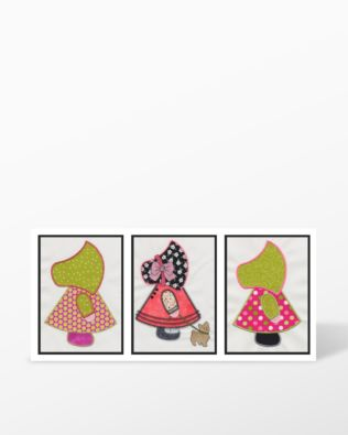 GO! Sunbonnet Sue Embroidery by V-Stitch Designs (VQ-SBSE)