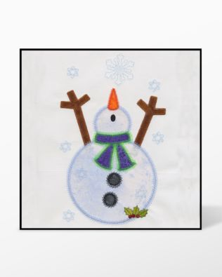 GO! Snowman Single #1 Embroidery by V-Stitch Designs (VQ-SMS1)