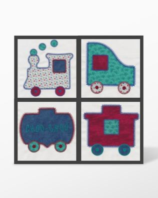 GO! Train Set #3 Embroidery Designs by V-Stitch Designs (VQ-TE03)