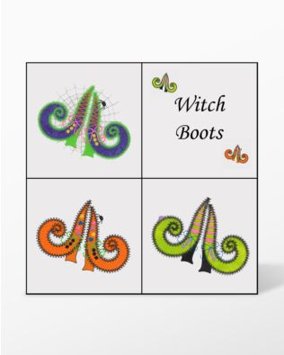 GO! Witch Boots Set Embroidery by V-Stitch Designs (VQ-WBS)
