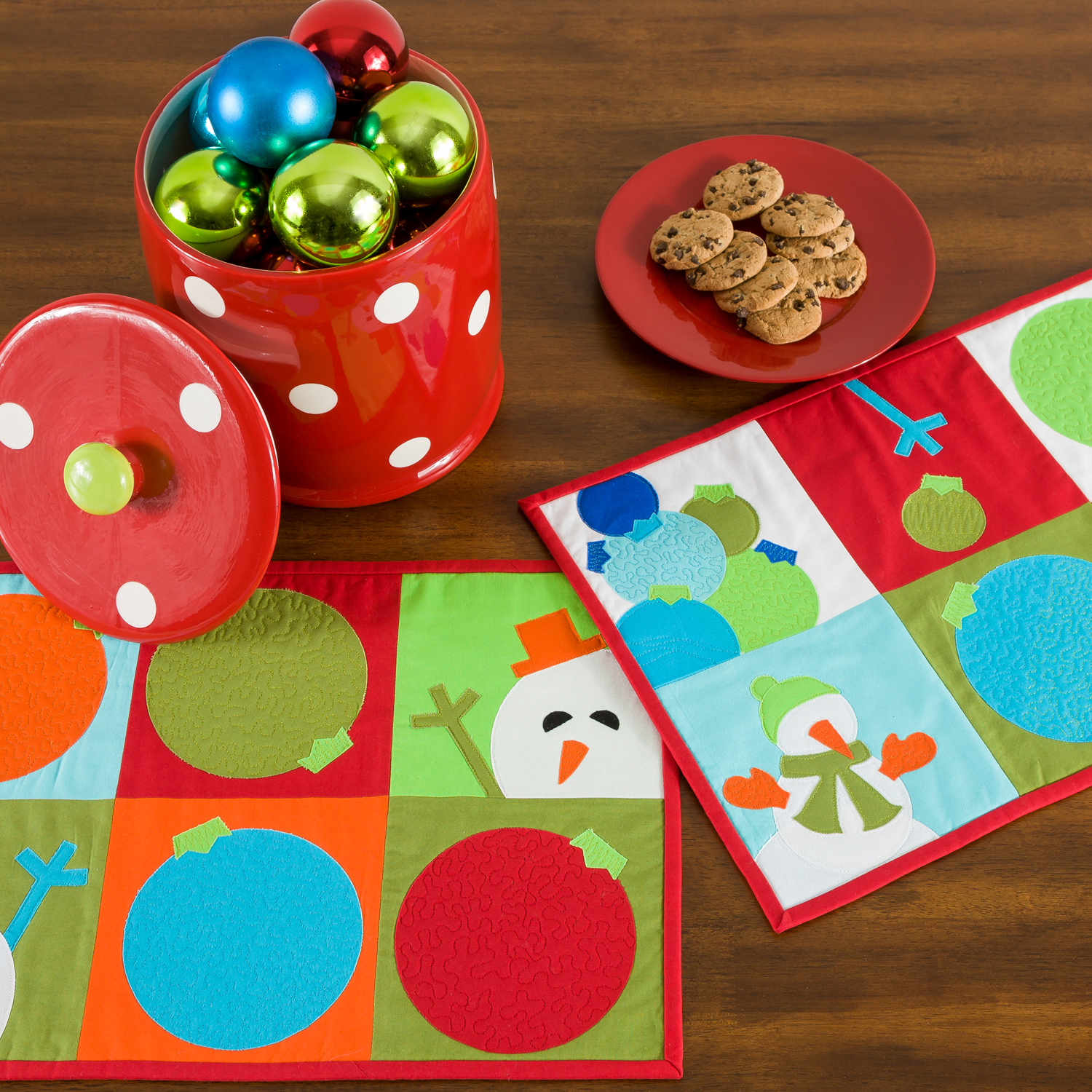 AccuQuilt GO! FREE Snowman Games Placemats Pattern