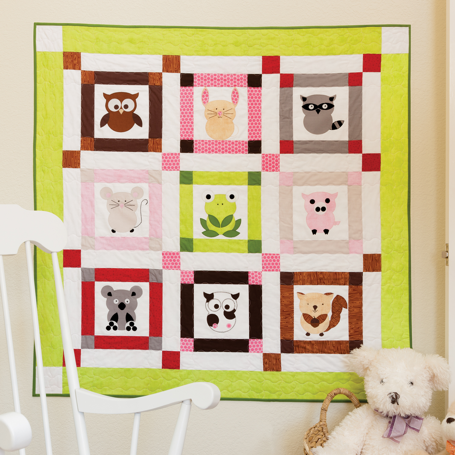 AccuQuilt GO! Free Talk To The Animals Baby Quilt Pattern