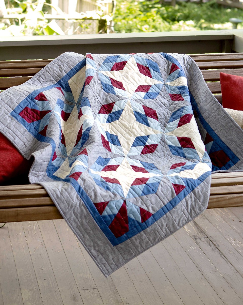 AccuQuilt GO! Antique Americana Throw Quilt Pattern