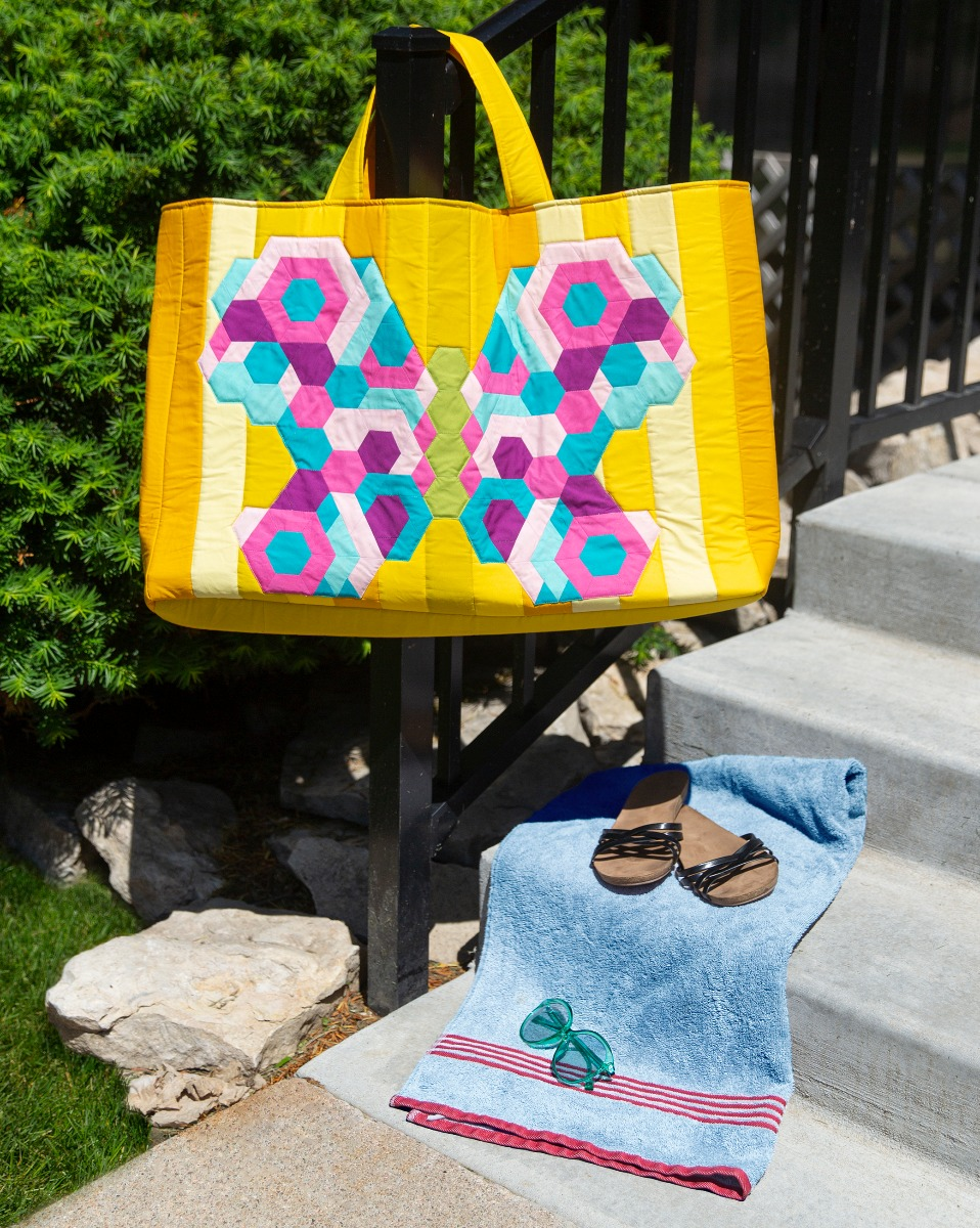 FREE AccuQuilt GO! Butterfly Tote Bag Pattern