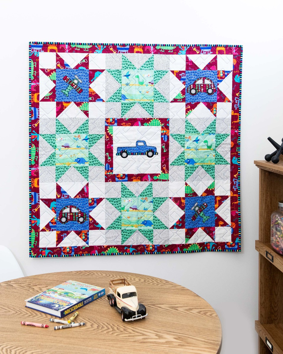 AccuQuilt GO! Traveling Baby Throw Quilt Pattern