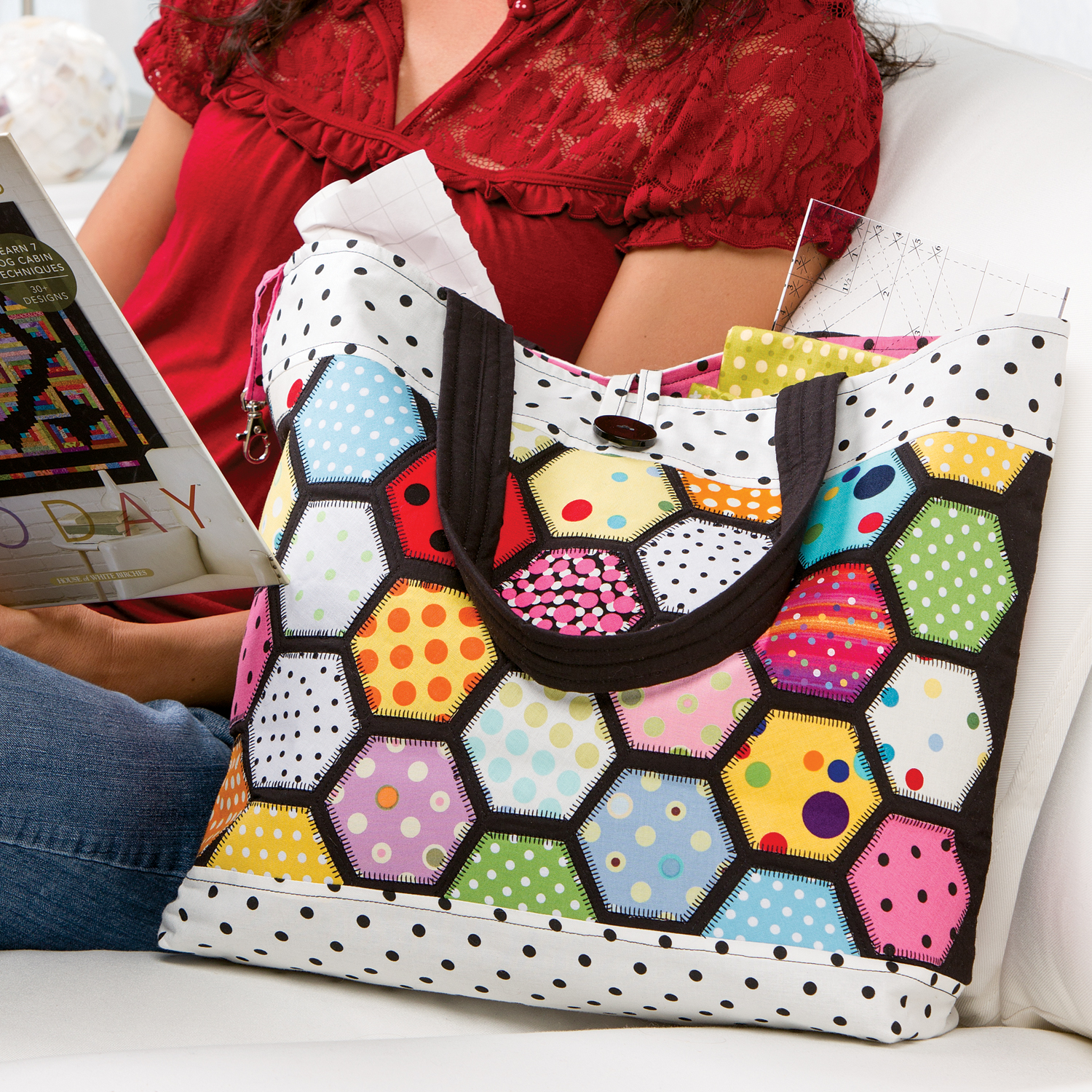 AccuQuilt GO! Stained Glass Tote Pattern Free Pattern