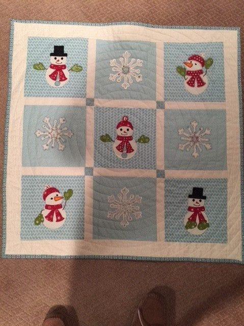 Snow mini quilt