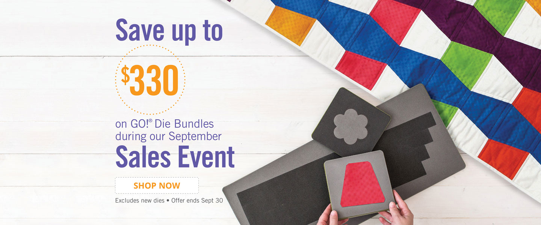 Save $330 on Bundles During Our September Sales Event