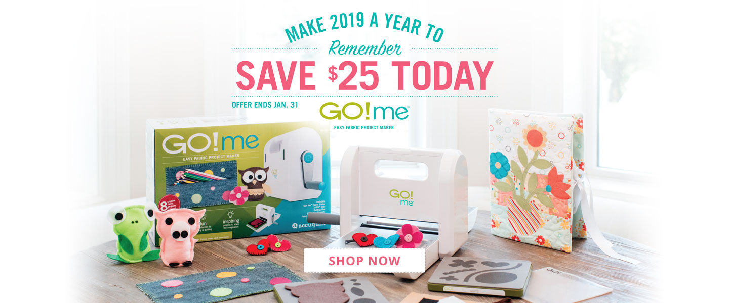 Save $25 on GO! Me Easy Fabric Project Maker (55275)