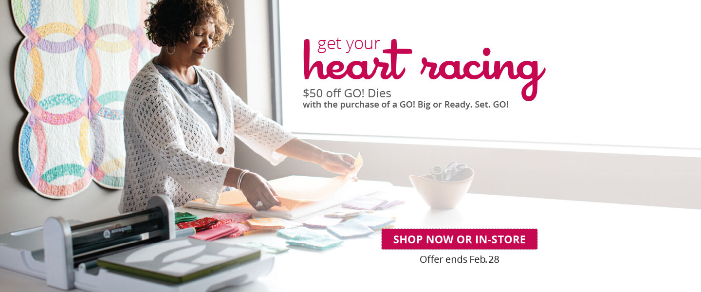 Up to $50 Off GO! Dies with the Purchase of a GO! Big or Ready. Set. GO!
