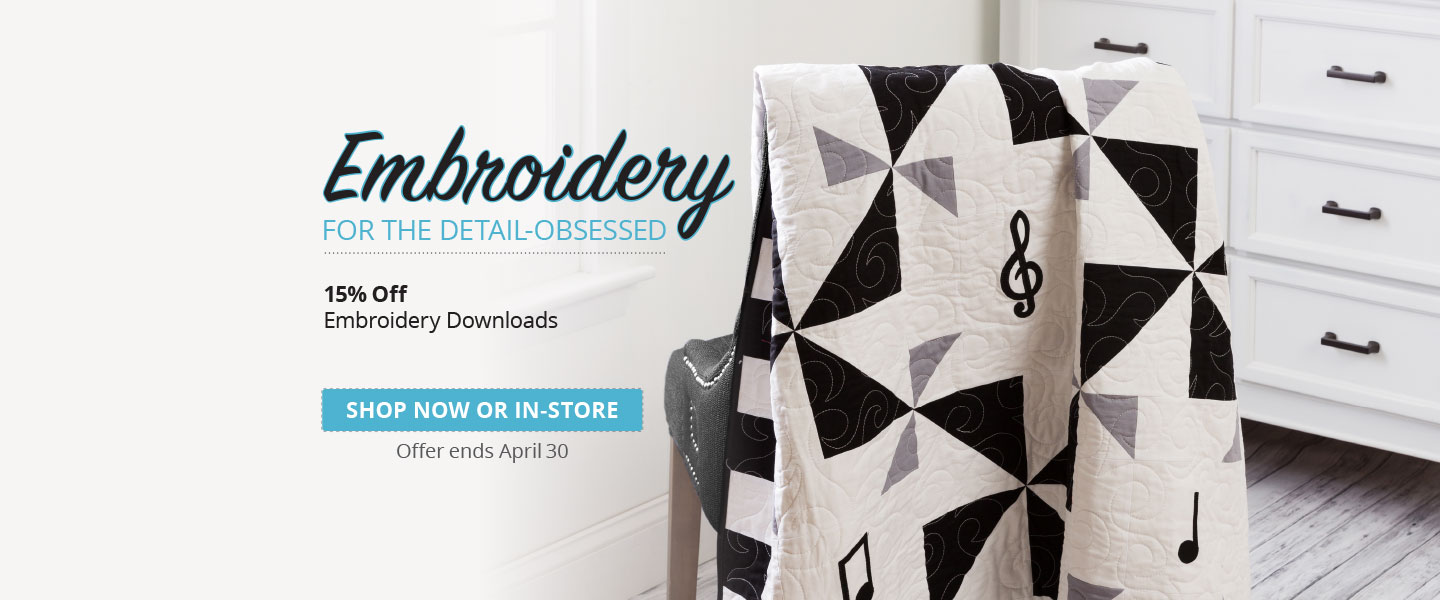 15% Off Downloadable Embroidery Designs