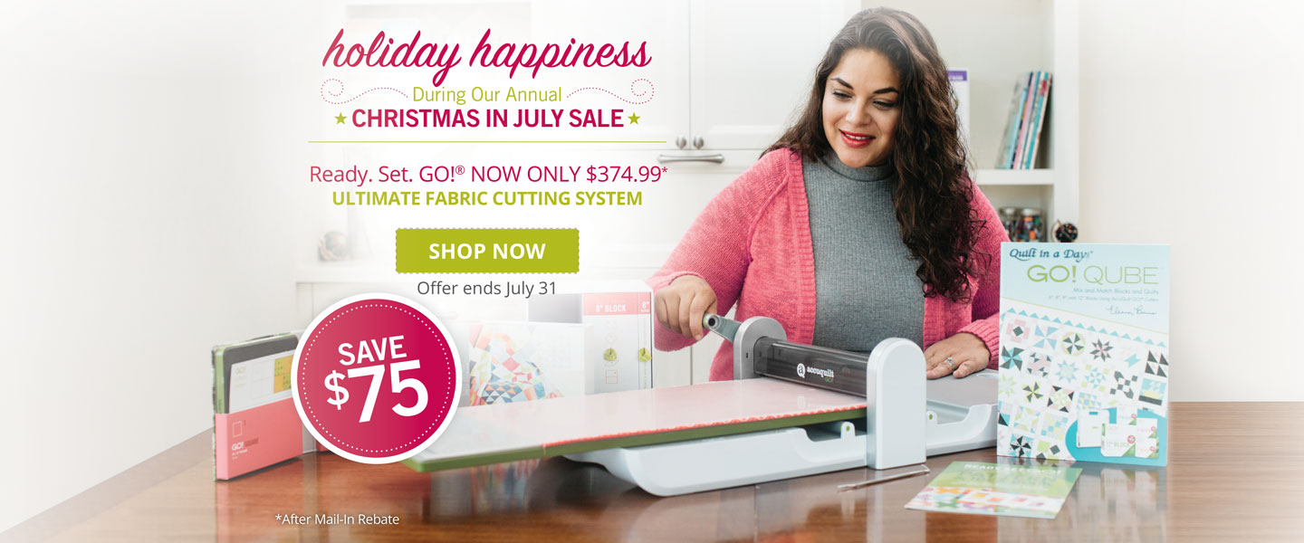 $75 Rebate on Ready. Set. GO! Ultimate Fabric Cutting System