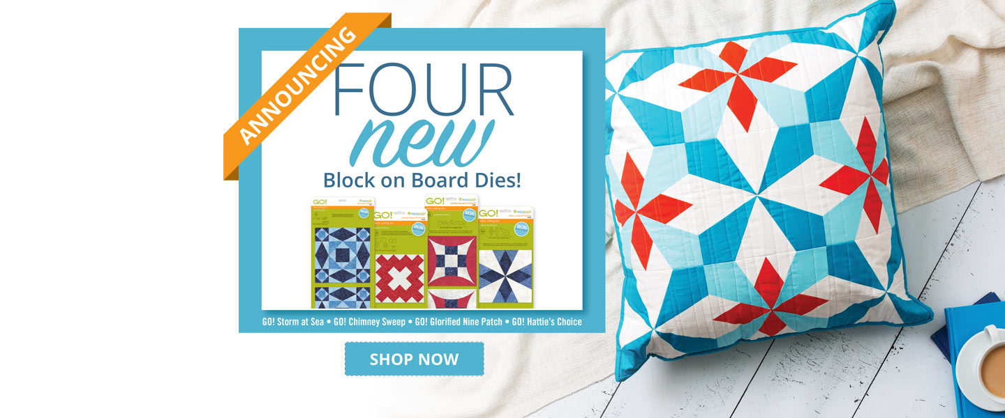 New AccuQuilt GO! Block on Board Dies