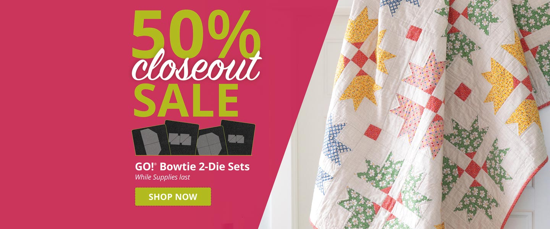50% Off GO! Bowtie 2-Die Sets While Supplies Last