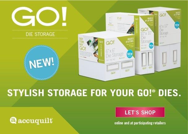 NEW AccuQuilt GO! Die Storage