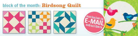 Birdsong Quilt