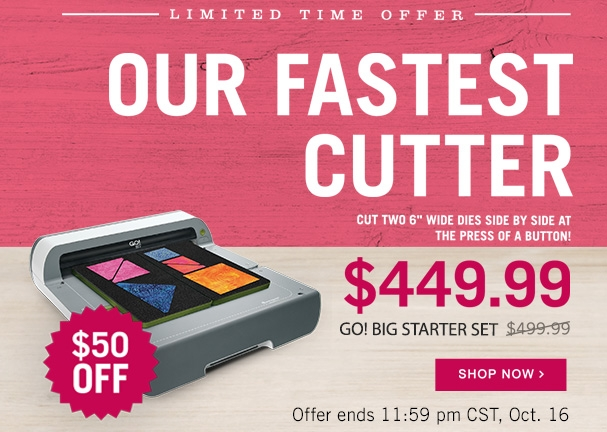 AccuQuilt Big Fabric Cutter Sale