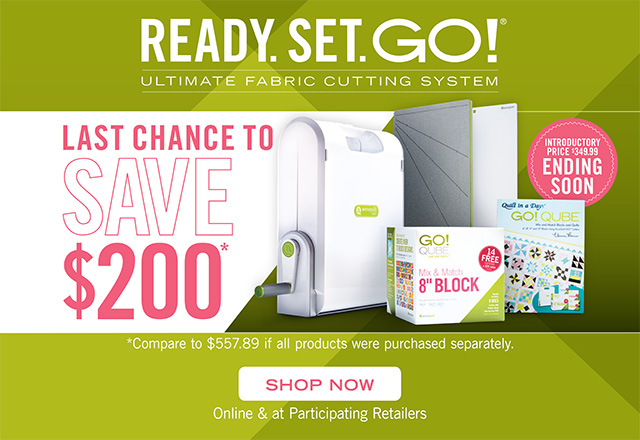AccuQuilt Ready Set GO Fabric Cutter Sale