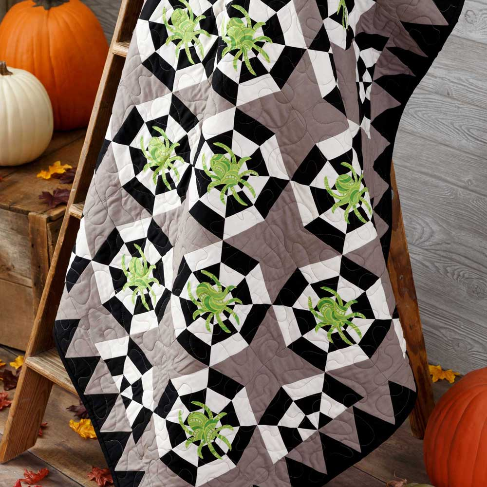 GO! Spinning Webs Throw Quilt Pattern