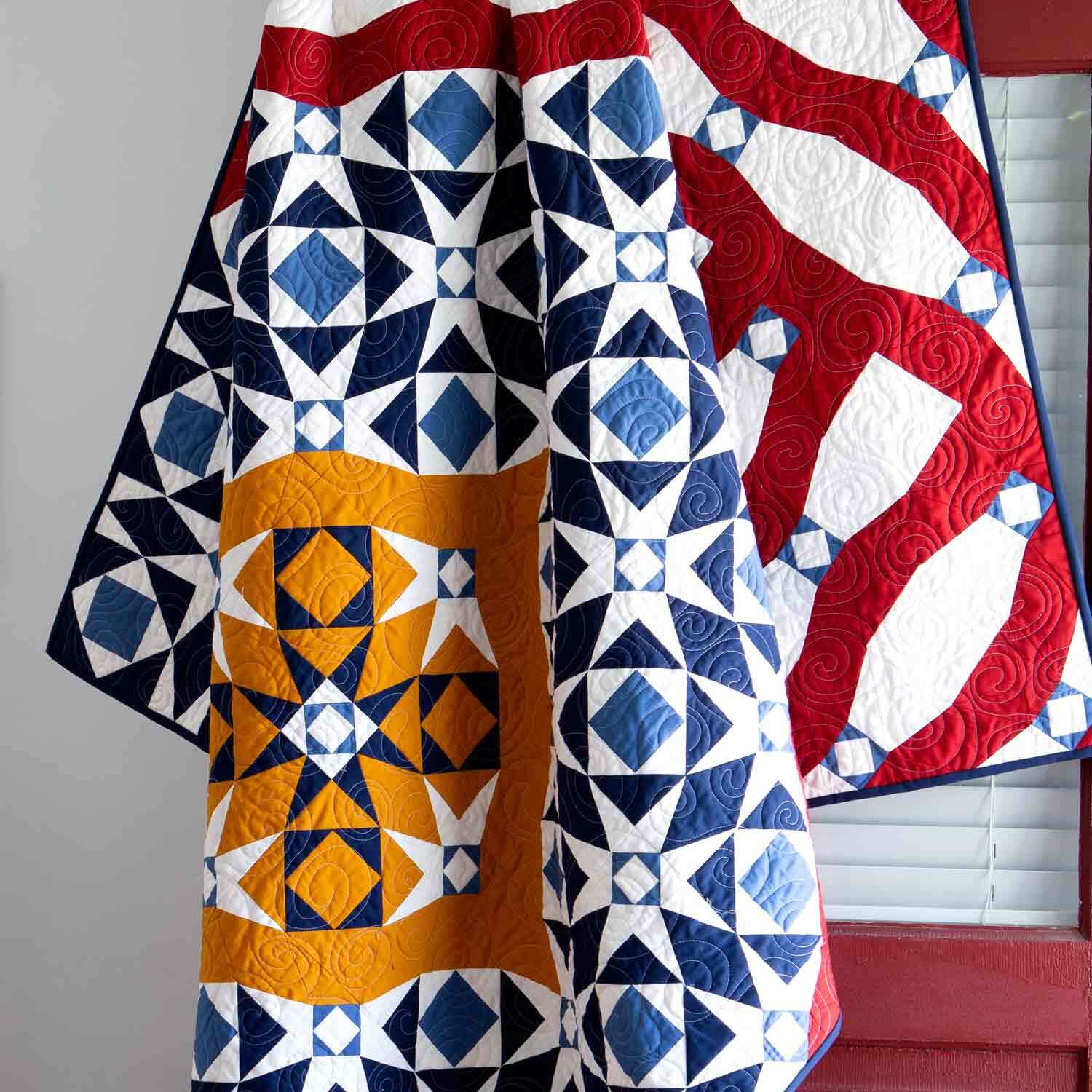 GO! From Sea to Shining Sea Throw Quilt Pattern