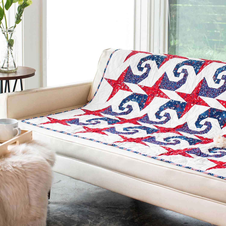 GO! Patriotic Snail's Throw Quilt Pattern