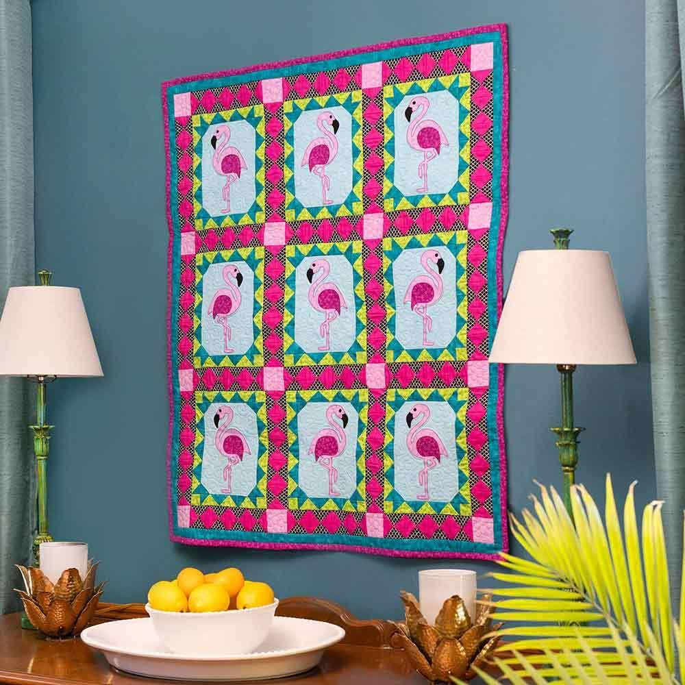 GO! Pretty in Pink Throw Quilt Pattern