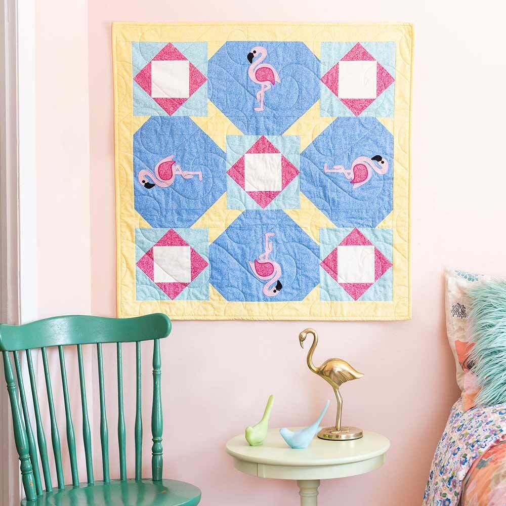 GO! Square Dancing Flamingos Wall Hanging Pattern