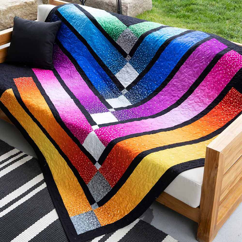 GO! Color Bar Throw Quilt Pattern