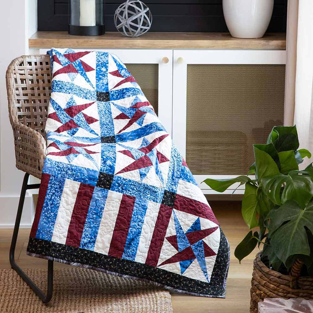 GO! Starry America Throw Quilt Pattern