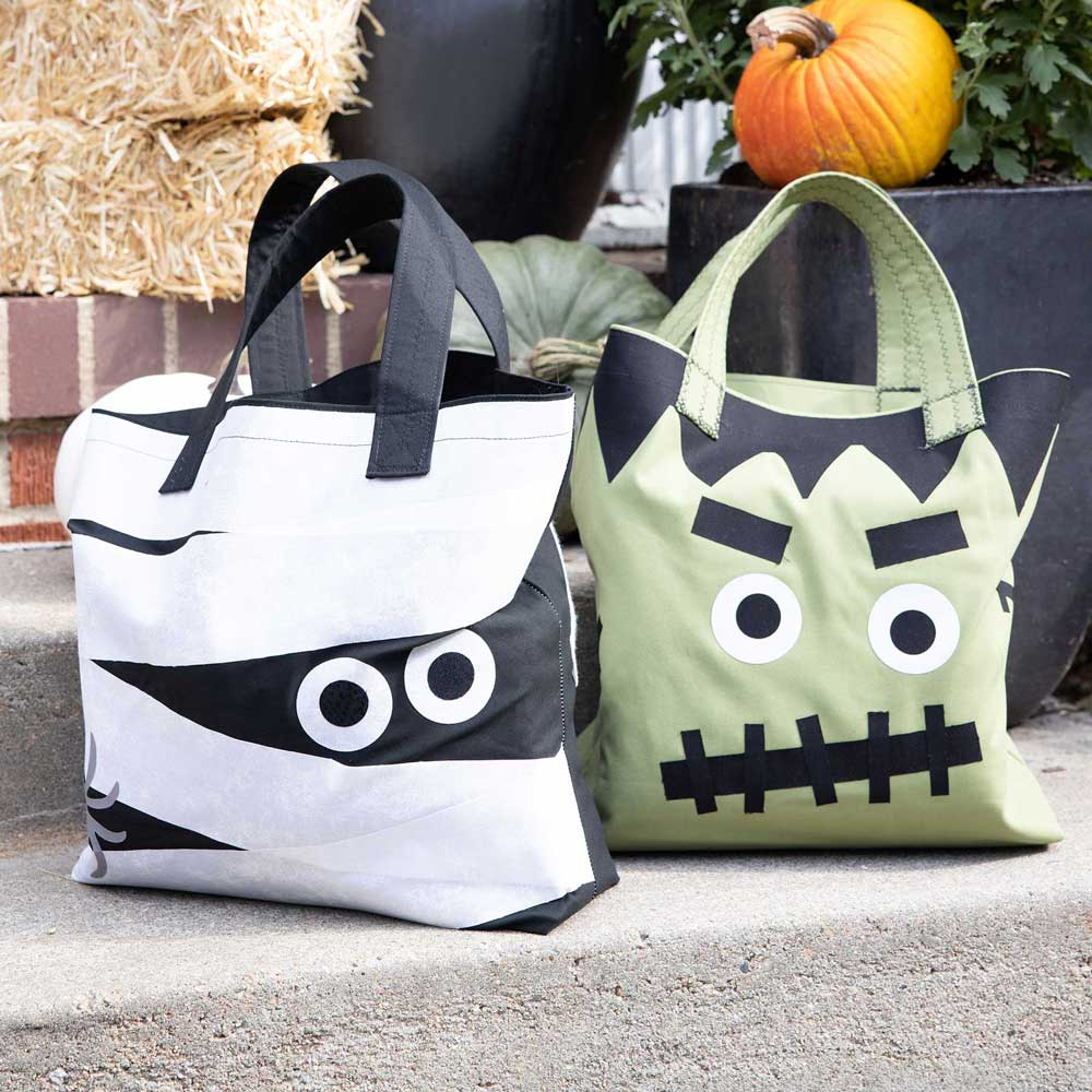 GO! Monster Trick or Treat Totes Pattern