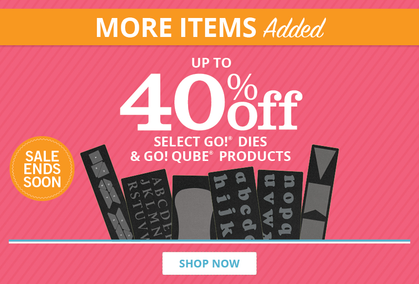 Up to 40% Off Select GO! Items