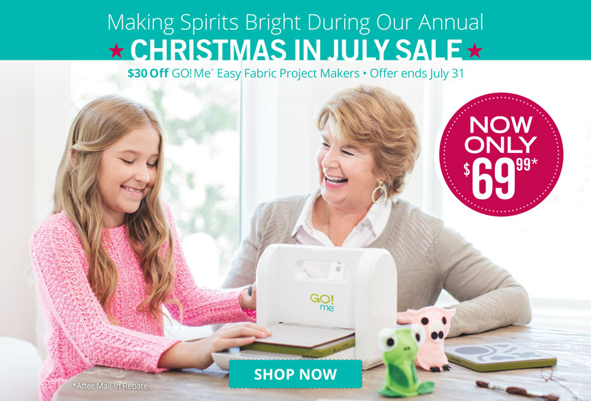 Save $30 on GO! Me Easy Fabric Project Maker via mail-in rebate