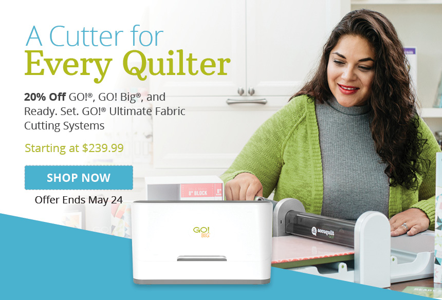 Up to $120 Off AccuQuilt Fabric Cutters