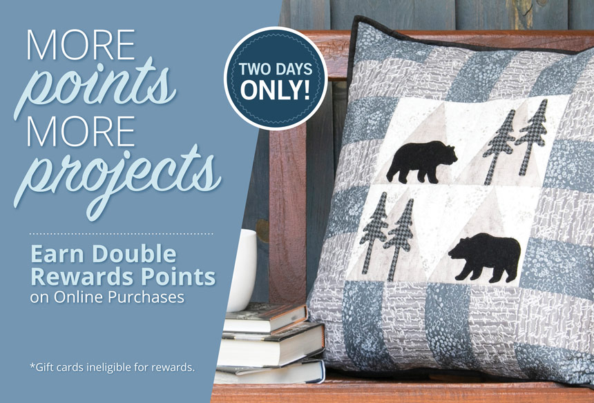 Double Rewards Points on Online Orders
