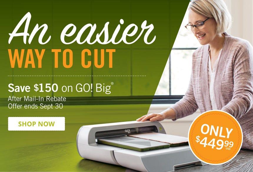 Rebate on GO! Big Electric Fabric Cutter