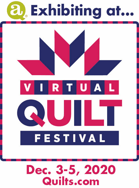 AccuQuilt exhibiting at ... Virtual Quilt Festival – Dec. 3–5, 2020 – Quilts.com – Click to Learn More